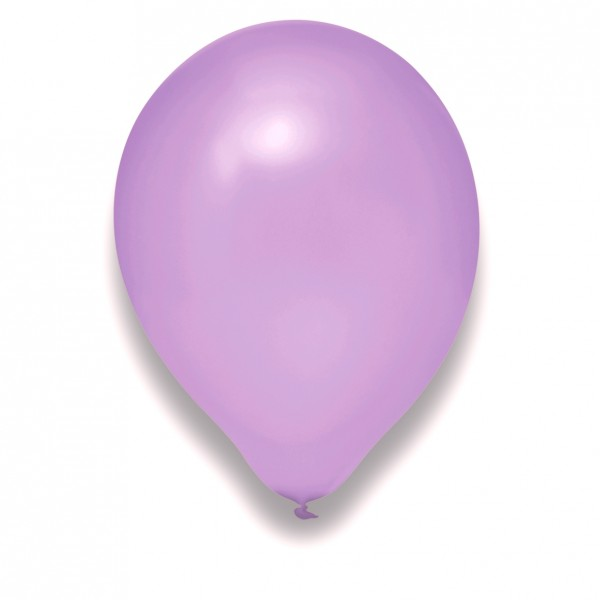 Globos Luftballons 100er Packung 30cm Durchmesser Pearl Flieder Naturlatex