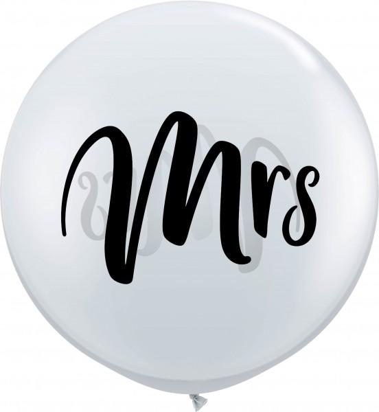 """Qualatex Latexballon Black Mrs. Jewel Diamond Clear 90cm/3"""" 2 Stück"""