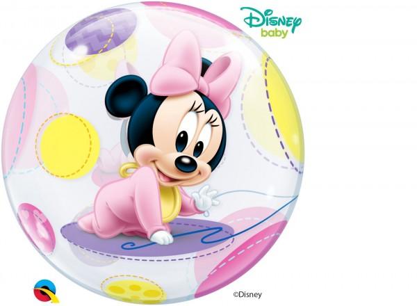"Qualatex Bubbles Baby Minnie Mouse 56cm/22"""