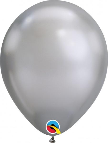 "Qualatex Latexballon Chrome Silber 28cm/11"" 100 Stück"