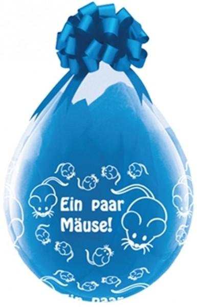 "Qualatex Verpackungsballon Ein paar Mäuse Diamond Clear 45cm/18"" 25 Stück"