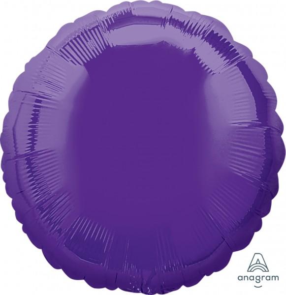 """Anagram Folienballon Rund Quartz Purple 45cm/18"""""""