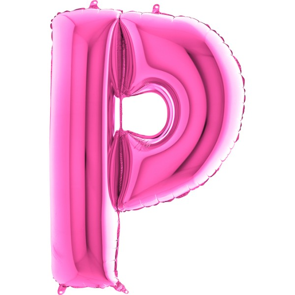 "Grabo Folienballon Buchstabe P Fuxia 100cm/40"""