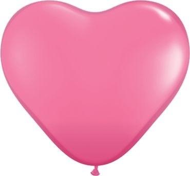 "Qualatex Latexballon Fashion Rose Heart 38cm/15"" 50 Stück"