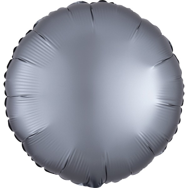 Anagram Folienballon Rund Satin Luxe Graphite 45cm/18""