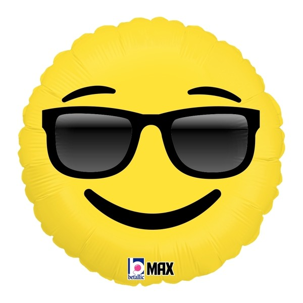 "Betallic Folienballon Emoji Sunglasses 45cm/18"""