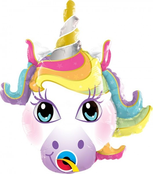 "Qualatex Folienballon Magical Unicorn 36cm/14"""